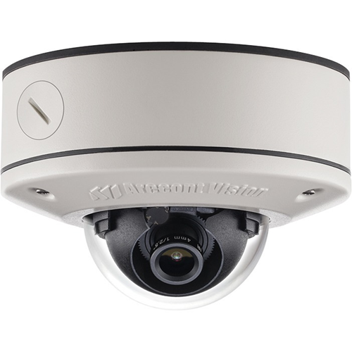 Arecont Vision AV3555DN-S-APZ 3MP MicroDome G2, Day/Night, 2048x1536, 21 fps, MJPEG/H.264, Remote Focus, 2.8mm Lens, Surface Mount, Outdoor