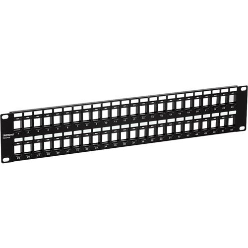 TRENDnet 48-Port Blank Keystone Patch Panel