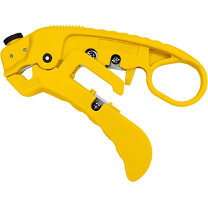 SIMPLY45 Adjustable LAN Cable Stripper for Shielded & Unshielded Cat7a/6a/6/5e - Yellow
