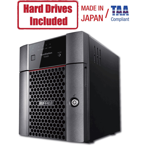 Buffalo TeraStation 3420DN Desktop 8TB NAS Hard Drives Included (2 x 4TB, 4 Bay)