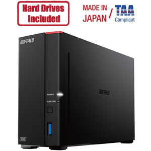 Buffalo LinkStation 710D 2TB Hard Drives Included (1 x 2TB, 1 Bay)