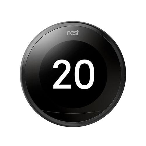 Google T3016CA Nest Learning Thermostat, 3rd Gen, Black