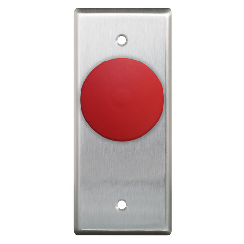Narrow,N/O And N/C Contacts Red Button