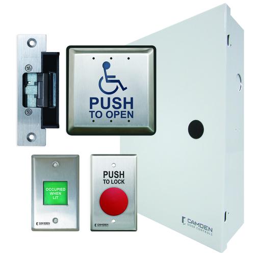 Basic Restroom Kit, Surface, W/Power Supply Cab &