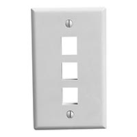 Wall Plate, 3 Port