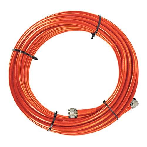 30' Sc-400 Plenum Coax Cable, N-Male, Orange