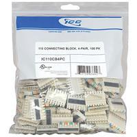 ICC IC110CB4PC 110 Connecting Block 4 Pair, 100-Pack