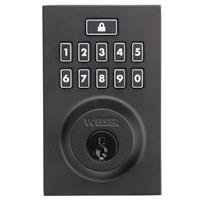 Weiser 9GED18000-018 SmartCode 10 Contemporary with Z-Wave Electronic Lock, Matte Black