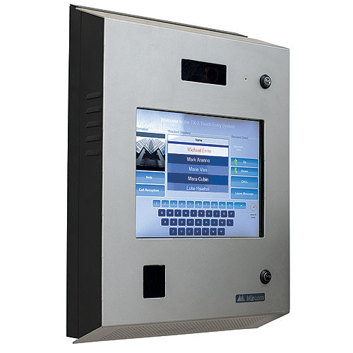 Mircom TX3-TOUCH-S15S-WR 15 in. Touch Screen Voice Entry Panel, Surface Mount, Weather & Vandal Resistant, Silver