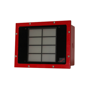 Red Outdoor 8 Zone LED 24v Stnd Wiring W/Backbox