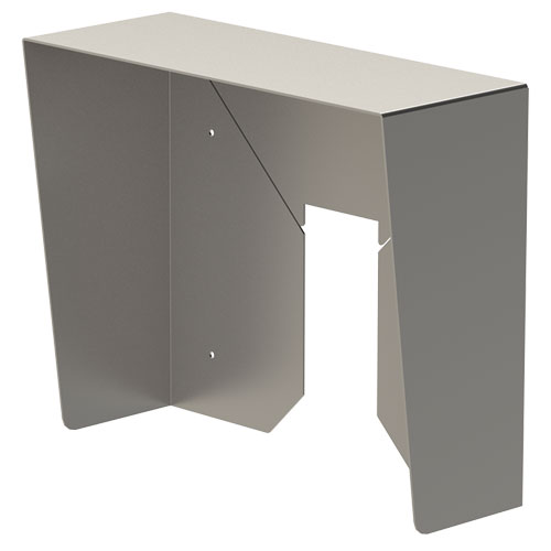 """15x12 Hood, Stainless Steel, Surface 11.6"""""""