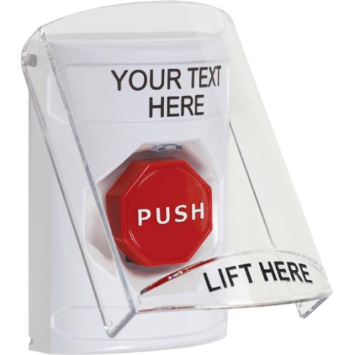 Stopper  Station W/Shield, White, Key-To-Reset Ill