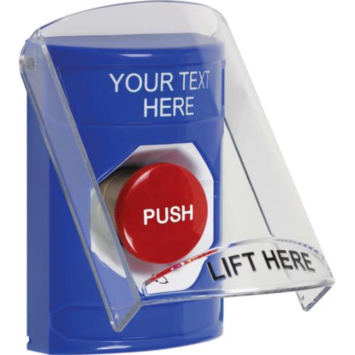 Blu Stppr Sta, Sti-6517 Cvr, Push & Ttr, Custom Labl