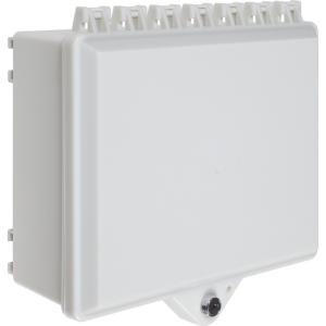 Nema 4x Prot Cabinet, Opaque Wht, W/Bak Plt & Key Lc
