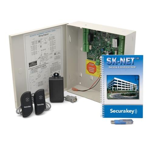 Secura Key DT-SYSKIT-5 Two Door Dual Technology LF Access Control Starter Kit With 2 Mullion Readers (No Cards)