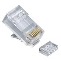 Rj45 (8p8c) CAT6 2pc. Round-Solid 3-Prong. 100/Jar