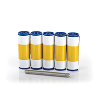 5 cleaning rollers, 1 metal roller bar