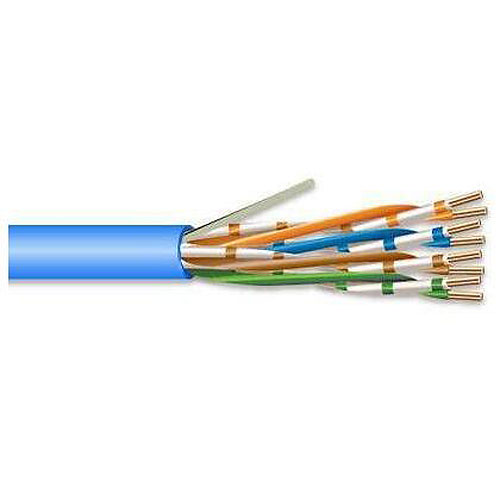 Superior Essex 6B-246-2A Category 6 Cable, CMR, 23 AWG, 4 Pair, Blue