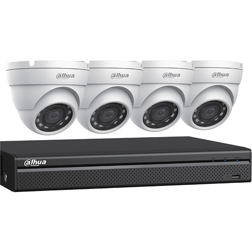4CH DVR, 2TB, 4X4MP EYEBAL KIT