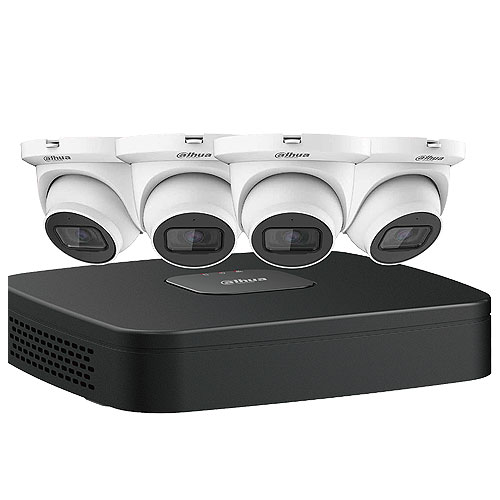 IP KIT: 4CH NVR + 4(4MP), MINI EYEBALL CAMERA