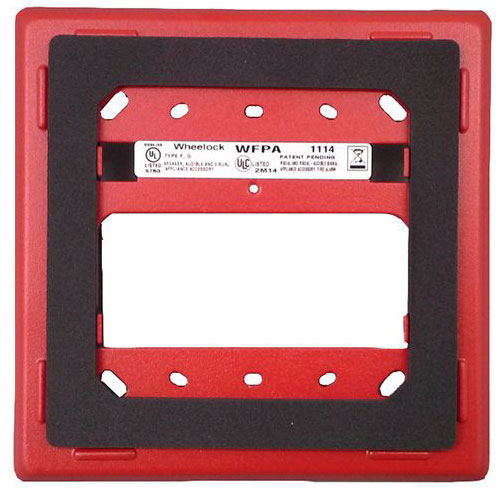 Eaton Wheelock WFPA-R Mounting Plate, Flush,Outdoor,ASWP ONLY, Red