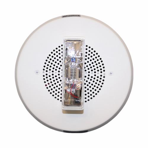 Eaton Wheelock E90-24MCC-NW E90 Speaker Strobe, Round, Ceiling, 24VDC, 15/30/75/95CD, No Lettering