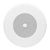 Valcom V-1020C Round Ceiling Speaker with Removable Volume Control, Semi-Gloss White, 8 in.