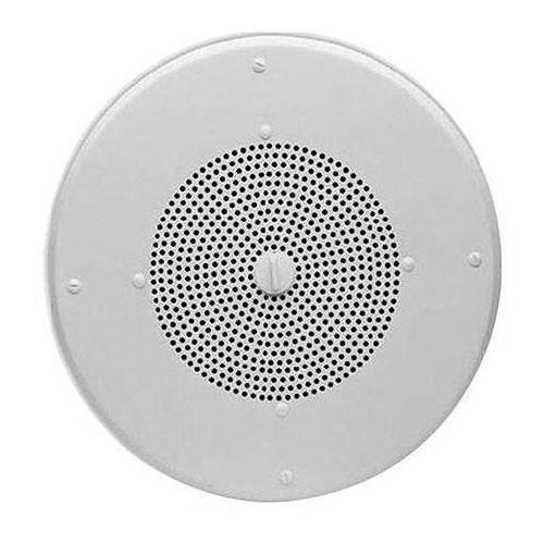 Valcom V-1052c 8 in. Amplified Wall Speaker, Metal, Black