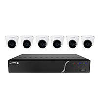 Speco Technologies ZIPK8T2 8-Channel H.265 NVR with 6 Outdoor IR 5MP IP Cameras, 2TB- KIT 2.8mm Fixed Lens