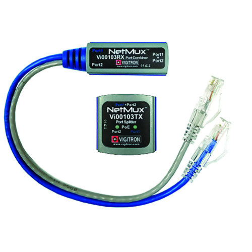 Vigitron VI00103 NetMux Ethernet and PoE Port Multiplexer